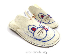 Fair trade wool kid slippers
