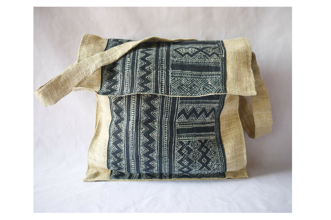 fair trade hemp satchel bag