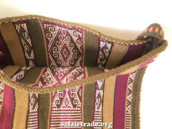 Fair trade Bolivian traditional hand woven bag
