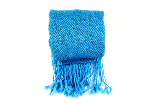 blue fair trade winter scarf