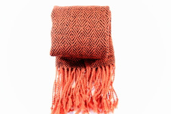 orange fair trade winter scarf