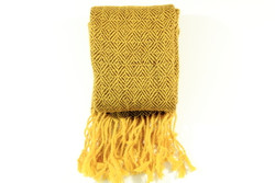 fair trade yellow alpaca scarf
