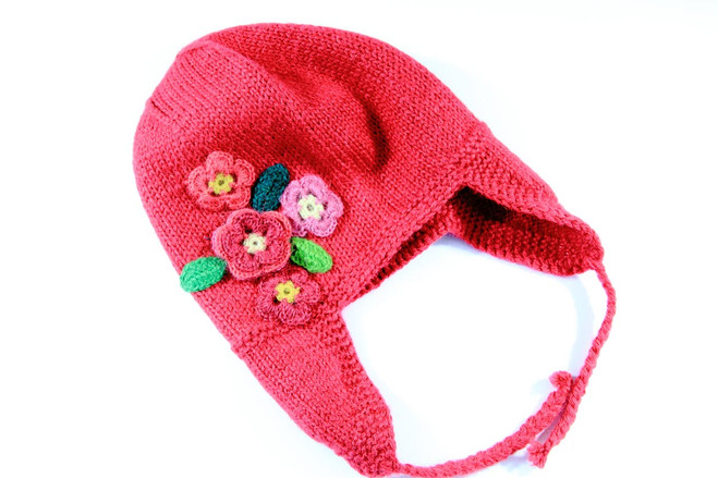 Fairtrade girl winter beanie handmade