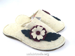 Fairtrade winter wool slippers