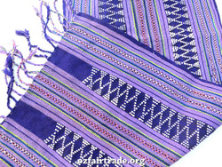 Purple hand woven table runner