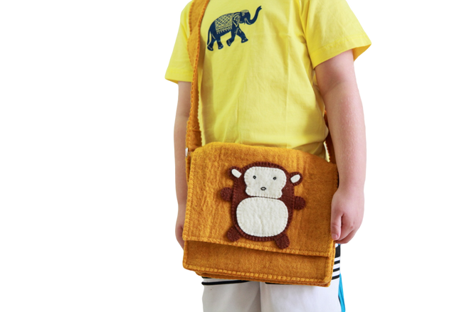 monkey fair trade kids bag