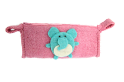fair trade animal pink pencil case