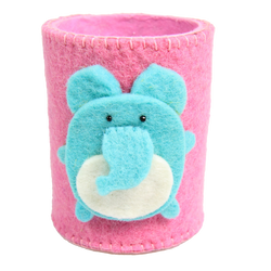 pink elephant pencil holder for kids