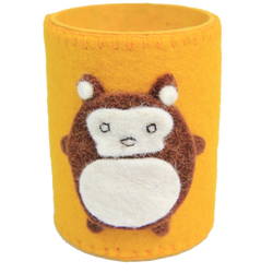 yellow pen / pencil case fair trade monkey kids