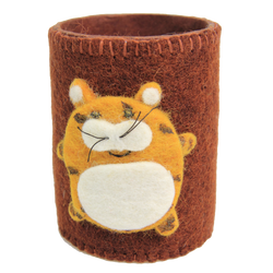 fair trade tiger pencil / pen holder for kids