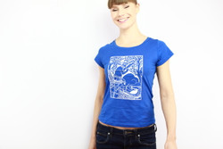 women ethical blue tshirt