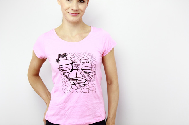 ethical t-shirt women pink
