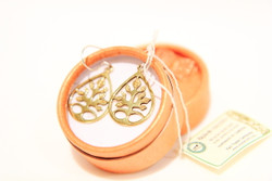 Tree of Life recycled bombshell tree of life earrings gift