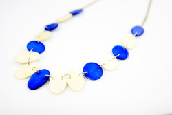 fair trade blue necklace