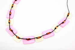 fair trade pink necklace