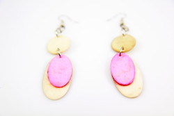 pink ethical handmade earrings