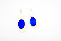 blue fairtrade ethical earrings