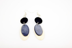 black ethical fairtrade earrings