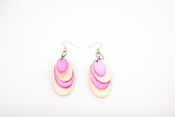 pink ethical oyster earrings