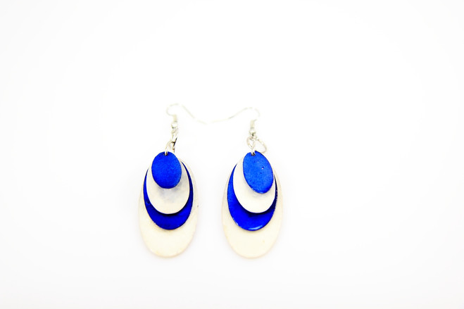 blue ethical fair trade earrings