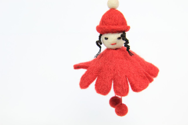 fairtrade Christmas tree ornament girl