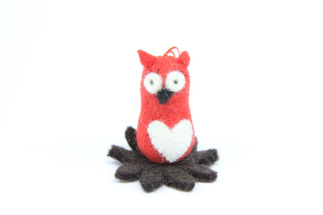 Christmas tree ornament owl fairtrade