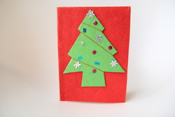 fairtrade jute Christmas card