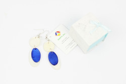 blue fairtrade ethical earrings gift