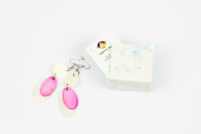 pink ethical handmade earrings gift