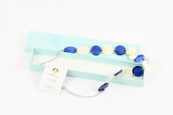 fair trade blue necklace gift