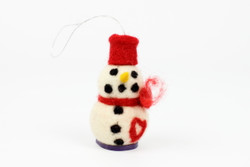 ethical christmas tree decoration snowman