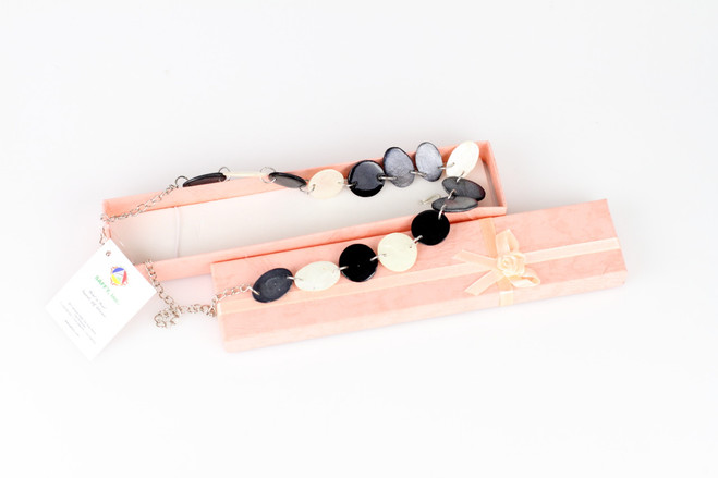 black grey ethical necklace gift