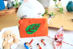 orange felt purse kids