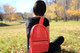 red ethical backpack