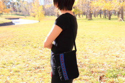 black fairtrade shoulder bag