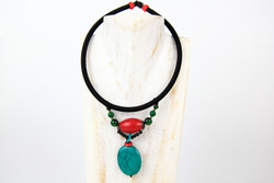 red green necklace