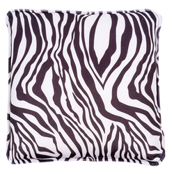 Back Zebra Design Pillow