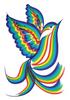 Rainbow brush finished bird
