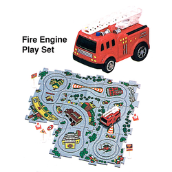 Puzzle Car Fire Engine Red. Use any puzzle cars on any track to ad more fun.