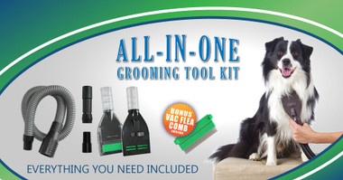 Tidy Groomer  vacuum away pet hair