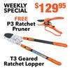 Geared Ratchet Lopper & Ratchet Hand Pruner Shears