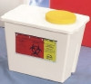 Chemotherapy Container 9H X 7.75W X 11.625L Inch 2 Gallon White Base Gasketed Lid, Screw Top (Case of 30) (Bemis Health Care 202-004)