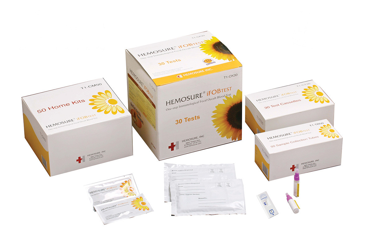 Hemosure Ifob Testing Immunoassay Fecal Occult Blood Test