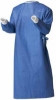 Surgical Gown Royalsilk Blue 3 X-Large / X-Long Adult Knit Cuff (Case of 20) (Cardinal 95998)