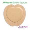 Mepilex Border Sacrum Foam Dressing 9.2 X 9.2 Inch (Molnlycke #282400, Box of 5)