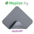 Mepilex Ag Antimicrobial Silver Foam Dressing 4x8 inch (Box of 5) MOL 287200 (287200)