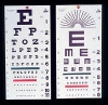 Distance Vision Eye Chart 20 Foot Snellen (1 EA) (Alimed 73373)