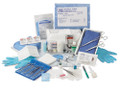 Each Kit includes:  Alcohol, Triple Swabstick (1) ChloraPrep® Antiseptic 3mL Applicator (1) Tegaderm® 1626 Dressing With Tape, 4x4.75in. (1) 4x4in. 4ply Gauze Sponge (2) Pair Nitrile Exam Gloves in Wallet, Medium, Blue (1) Pair Nitrile Exam Gloves in Wallet, Medium, Powder-Free, Blue (1) Dressing Change Label (1) Mask With Ear Loops (1) 1x 4in. Transpore ™ Tape (1) 17x19in. Wrap, White (1)  Each case contains 20 Kits described above.