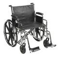 Bariatric Wheelchair Sentra EC Heavy Duty Padded Removable Desk Arm Mag Black 22 Inch 450 lbs. (1 EA) (Drive Medical STD22ECDDA-SF)