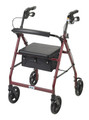 4 Wheel Rollator drive Blue Adjustable Height Aluminum (1 EA) (Drive Medical R728BL)